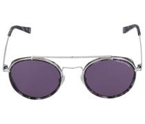 Sonnenbrille Round 052106 Metall Acetat silber