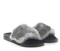 Sandalen SLIDE Kautschuk schwarz Nerz grau