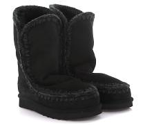 Stiefeletten Boots Eskimo 24 Veloursleder Stricknaht Schafsfell