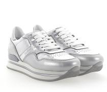 Sneaker H222 Plateau Leder metallic finished