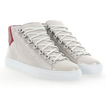 Sneaker ARENA High Leder cremeweiss crinkled