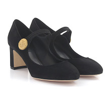 Pumps Mary Jane Veloursleder