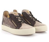 Sneaker Devon Python-Look Leder braun