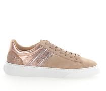 Sneaker H365 Veloursleder Leder metallic glitzer rosè