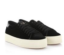 Sneaker Signature Court Classic Samt Leder