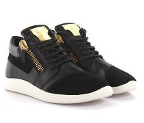 Sneaker Runner Singleg Leder Veloursleder