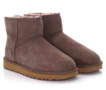 Stiefeletten Boots Classic Mini 2 Veloursleder flieder Lammfell