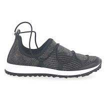 Sneaker Slip On ANDREA Mesh schwarz silber metallic