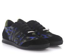 2 Sneaker New Runner Veloursleder Leo print
