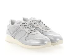 Sneaker R261 Stoff glitzer silber Leder silber