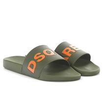 2 Sandalen Dune Gummi grün