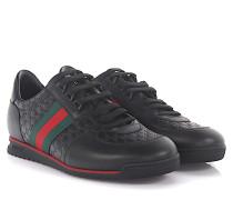 Sneaker A9LA0 Leder -Prägung -Webdetails