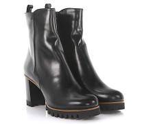 Stiefeletten Boots 8075 Plateau Leder