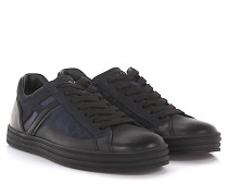 Sneakers Low Top R141 Rebel Leder schwarz finished