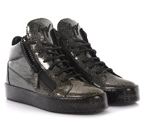 Sneaker Vegas Mid Top Lackleder finished gold Glitzer