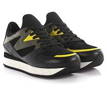 Sneakers Speedrun Nappaleder schwarz Veloursleder schwarz