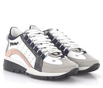 2 Sneakers 551 Leder weiß Nubukleder grau