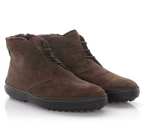 Stiefeletten Boots Veloursleder Lammfell