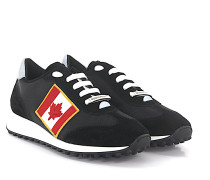 2 Sneaker NEW RUNNER Veloursleder Hightech-Jersey Canadian Flag Patch
