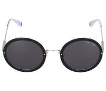 Sonnenbrille Round 048106 Acetat Metall silber