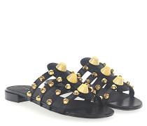 Sandalen Leder Nieten gold