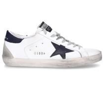 Sneaker low SUPERSTAR Kalbsleder Logo schwarz weiß