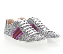 Ace Sneaker Stoff Glitzer Leder Web-Streifen