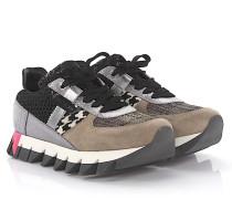 Sneaker Capri D Leder Veloursleder Stoff multicolor Pailletten