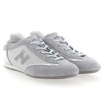 Sneaker OLYMPIA Veloursleder Stoff grau Leder