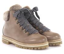 AGL Stiefeletten Boots Leder Lammfell