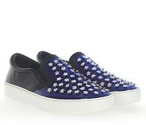 Slip-On Sneaker HAPPY Lackleder dunkelblau Leder
