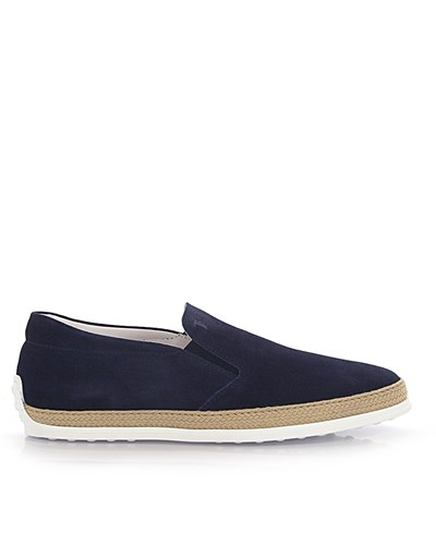 tod 39 s herren tod 39 s tods slip on sneaker veloursleder blau. Black Bedroom Furniture Sets. Home Design Ideas