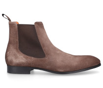 Chelsea Boots 13414 Veloursleder Logo