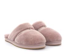Hausschuhe Slipper DALLA Nubukleder rosa Lammfell rosa