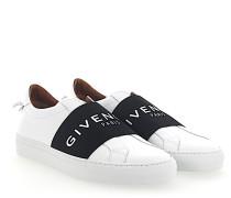 Slip-ON Sneaker ELASTIC Leder weiss schwarz