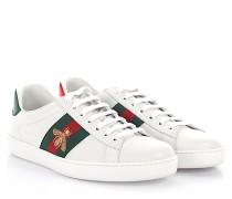 Sneaker Ace Low Top Leder -Webdetails Bienen-Stickerei Ayers Schlangenleder