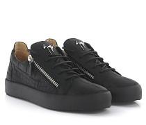 Sneaker Frankie Low Leder Krokodilprägung