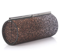 Boxclutch Trinket Glitzer bronze anthrazit
