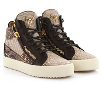 Sneaker high Devon Phyton-Look leder