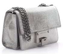 Rebel Soft Mini Umhängetasche gebürstetes Metallic-Hirschleder grau