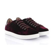 Sneaker Low Loft Leder Samt bordeaux