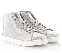 Sneakers High S28230 Leder silber finished