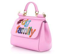 Handtasche Dolce Family Leder Logo Verzierungen