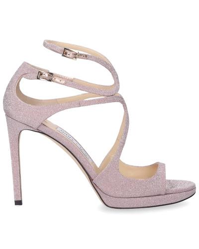 Riemchensandalen LANCE Glitter rosa