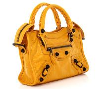 Handtasche Schultertasche Classic Mini City Leder Design-Nieten
