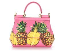 Handtasche Schultertasche Sicily Leder Ananas Print