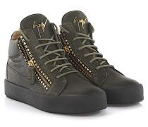 Sneaker Kriss Mid high Leder Khaki