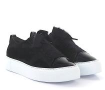 AGL Sneaker D92506 Plateau Veloursleder Lackleder