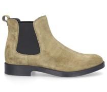 Chelsea Boots W60C Veloursleder Logo khaki