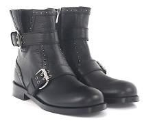 Boots Blyss Flat Leder Metallverzierungen